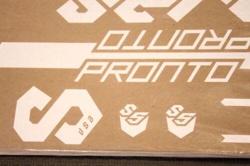 Genuine NOS 2013 Serotta Pronto White Bike Frame Decals OEM Complete Ti Set