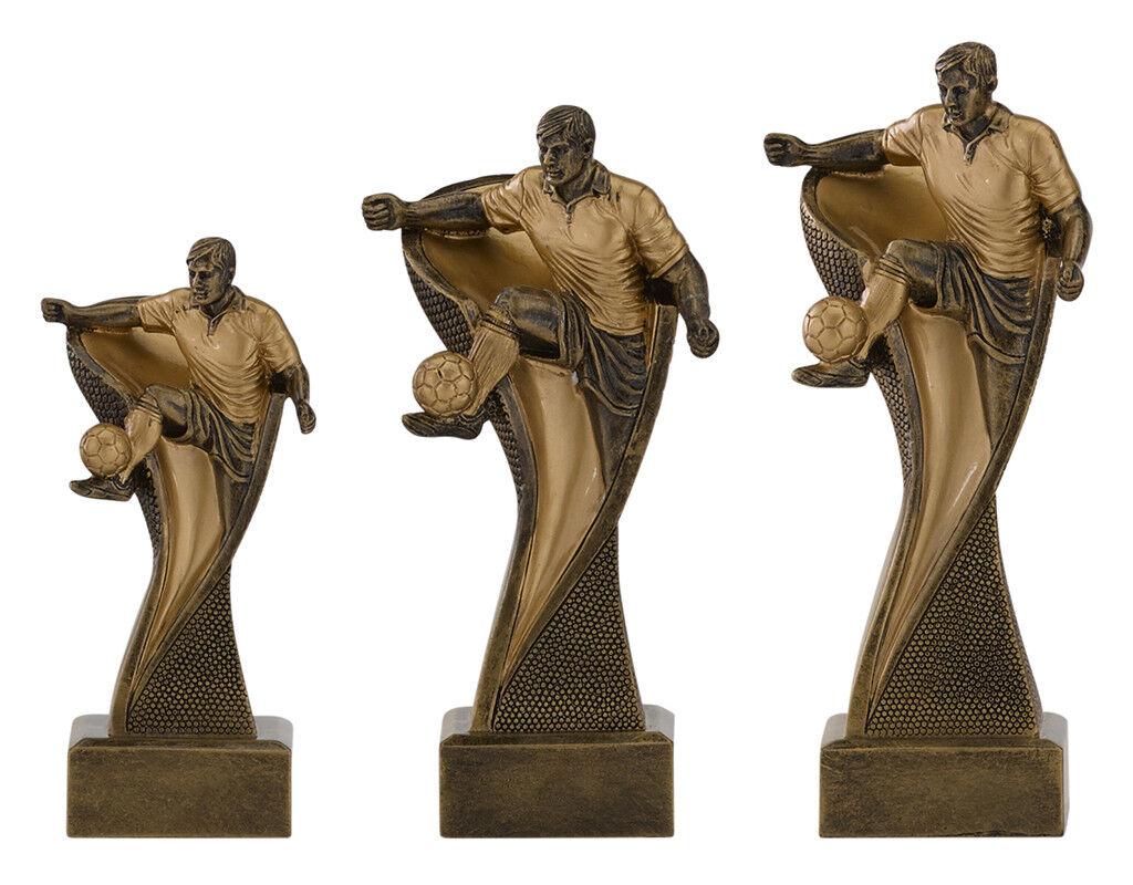 Fußball Pokal mit Gravur einzeln oder als 3er Serie Serie Serie ef30a2