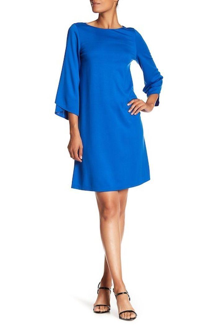 944d89510 Lafayette York Fabiana A-Line Dress in Azurite bluee 438 New 148 ...