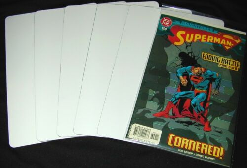 "7/"" x 11/"" 300 Comic Book Bin Index Divider Cards White Eco 20mil Thick"