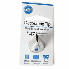Wilton Basketweave Icing Tip No. 47, Cake Decorating Nozzle