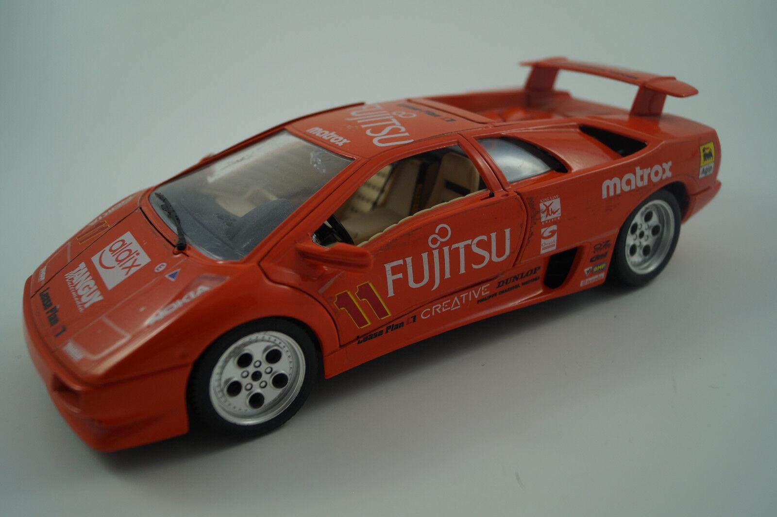 BBURAGO Burago modello di auto 1:18 LAMBORGHINI DIABLO 1990 Fujitsu