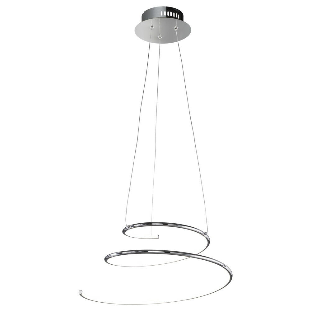 Pendelleuchte chrom Designer Leuchte LED Modern Warmweiß
