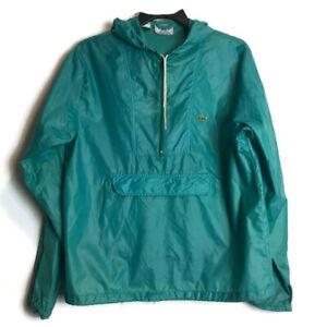 Vintage-Lacoste-Izod-Green-M-Windbreaker-Jacket-Crocodile-Alligator-1-4-Zip