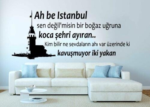 10/% Multi-Rabatt Wandspruch Wandtattoo Wandaufkleber Motiv Istanbul Zitat Stadt