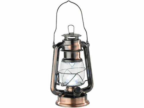 "Dimmbare LED-Sturmlampe /""Ocean/"" Bronze warmweiß Garten Lampe Deko-Leuchte neu"