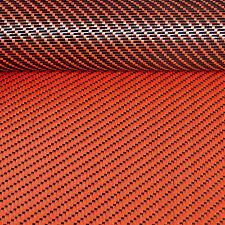 DOUBLE face in fibra di carbonio tessuto ORANO kevlar twill tessuto materiale 3x1 127cm x 28cm