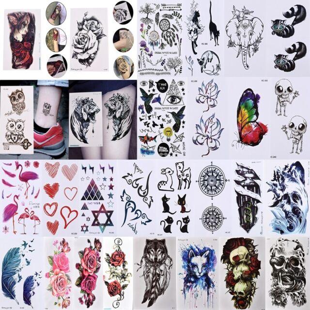 3D Tattoo Waterproof Stickers Removable Temporary Body Arm Fake Art Sticker D JR