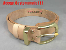 Handmade Solid Brass buckle M size Vegetable tanned Genuine leather belt