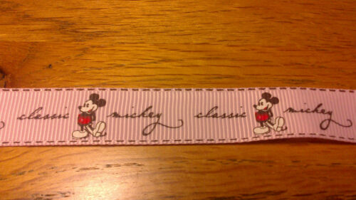 1 Yard Of Disney Minnie /& Mickey Mouse 15mm Grosgrain Ribbon Most Colours