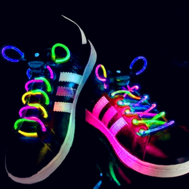 Lighting Flash Light Up Sports Skating LED Shoe Laces Shoelaces Shoestrings Cool