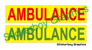 MAGNETIC Battenberg Medic  MAGNET Yellow Green Ambulance Paramedic Thin x 2