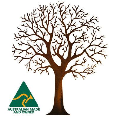 Round Tree Metal Garden Wall Art Australian Made Ebay