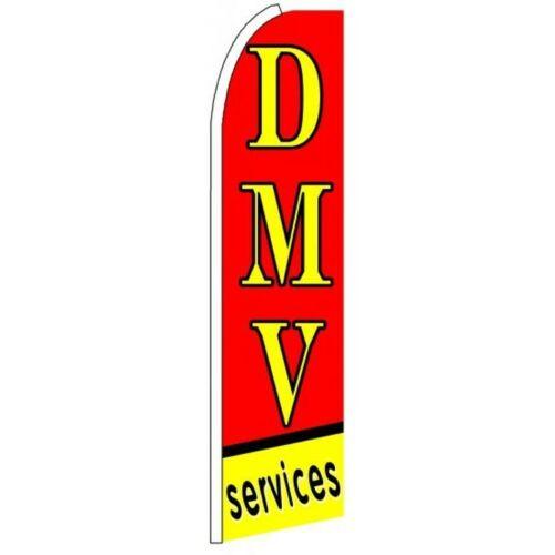 DMV SERVICES Half Curve PREMIUM WIDE Swooper Flag