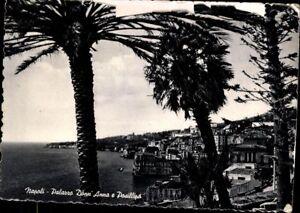 Ansichtskarte-Postkarte-Italien-Napoli-Neapel-Palazzo-Donn-Anna-e-Posillips-1956