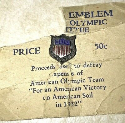 1932 X 10th Olympiad Los Angeles California Olympics Ring Souvenir Original item # 14590