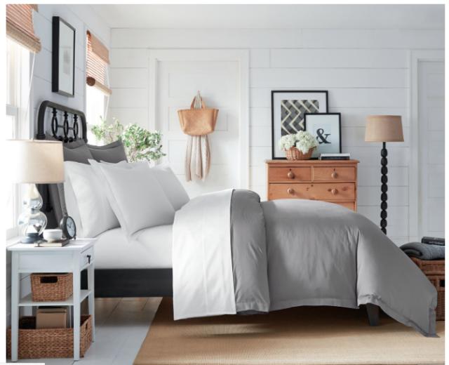 Boll Branch White Organic Cotton Hemmed Queen Sheet Set Brand No Box For Sale Online Ebay