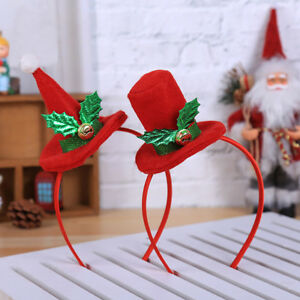 ALS-KQ-AU-Children-Adult-Christmas-Top-Hat-Headband-Headwear-Hair-Hoop-Xmas-P