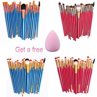 20 pcs Makeup Brush Set tools Make-up Toiletry Kit Wool Kabuki Make Up Brush Set