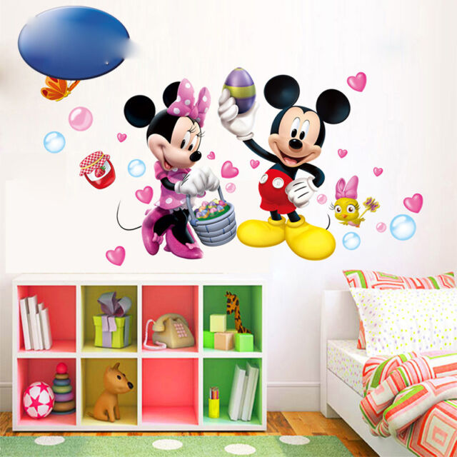 . Mickey Mouse Wall Sticker Removable Art 3D Decals Wallpaper Decor Room For  Baby