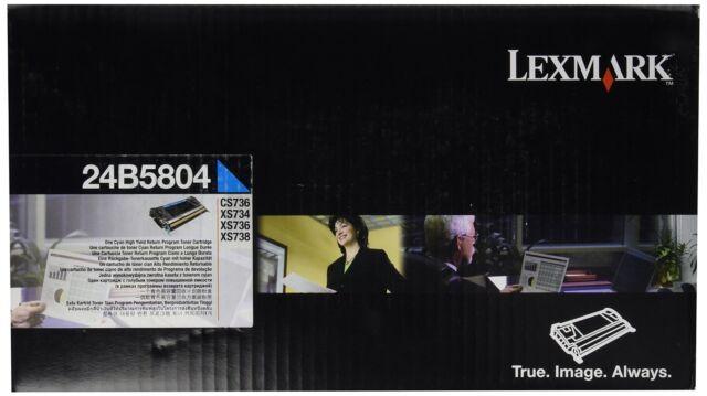 Original Lexmark Toner  24B5804 cyan für CS736  XS736 Xs734 A-Ware