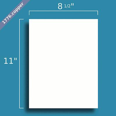 "50 Matte White Blank Page FULL SHEET 8.5"" x 11"" Sticker Paper - Inkjet / Laser"