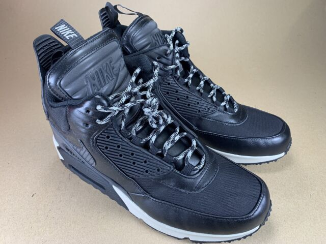 tout neuf 52d83 4a5ec Nike Air Max 90 Sneakerboot Wntr Black Magnet Grey WaterProof 684714 001  Size8.5
