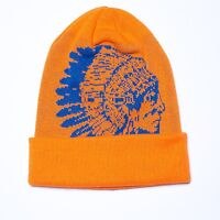 T.i Hustle Gang Indian Head Knit Cap Hat Orange/royal Authentic Fast Shipping