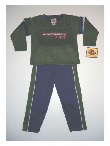 Sweatshirt mit Jogginghose Set von Harley Davidson mit Stickmotiv Blau//Grün