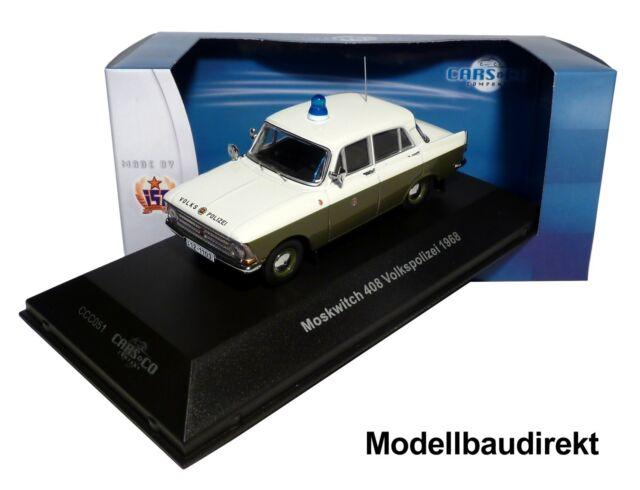 Moskwitsch 408 - Volkspolizei Bj. 1968 1:43 IXO / IST CCC051 Cars & Co NEU & OVP