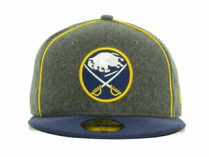 b381c201833 New Era Buffalo Sabres NHL Piping 59FIFTY 5950 Fitted Cap Hat Size 6 ...