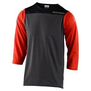 Troy-Lee-Designs-Ruckus-3-4-Sleeve-Jersey-Block-Gray-Tangerine-Large