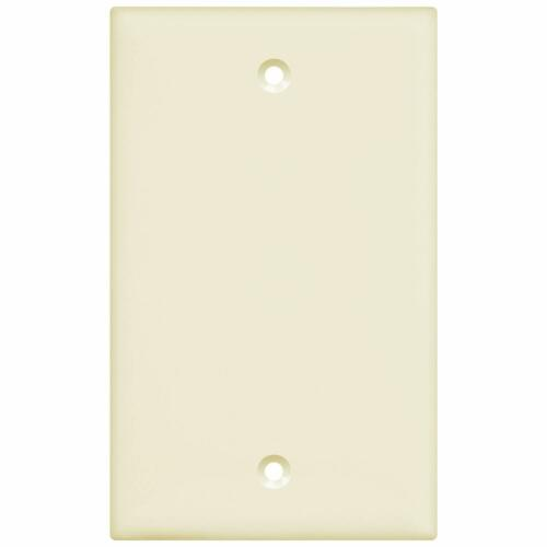 10Pcs Blank Cover Wall Plate Standard Size 1 Gang Polycarbonate Thermoplastic