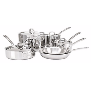 Viking 4513 2s10 3 Ply 10 Piece Mirror Finish Cookware