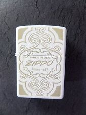"Zippo  ""MADE IN USA"" Ornamente - WHITE  MATT- NEU & ovp - #342"