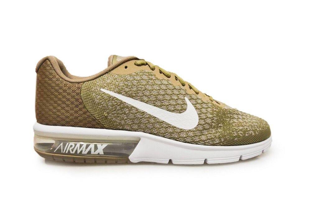 Herren Nike Air Max Aufeinanderfolgend 2 - 852461 200 - Khaki Weiß Sting Turnschuhe