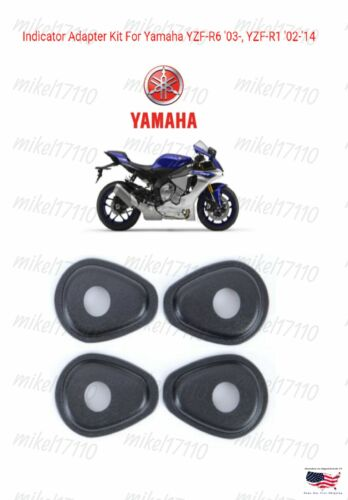 Yamaha Adapter Plate Spacers Black for In Hole Stalk Turn Signals Front OR Rear