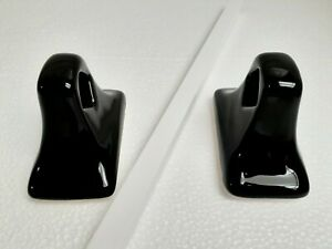 Black Ceramic Towel Bar Rod Holders Rack Post Porcelain Flat Back Adhesive Mount