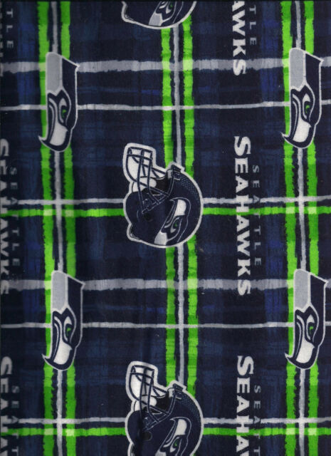 New NFL Officially Licensed Seattle Seahawks flannel fabric by the half-yard 817240758