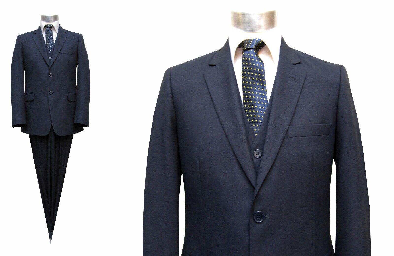 Herren Anzug 3-teilig Slim fit Gr.31 Dunkelblau