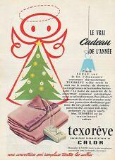 PUBLICITE  LA COUVERTURE THERMOSTATIQUE CHAUFFANTE  CALOR  AD  1956