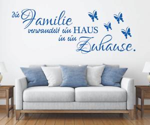X4525-Wandtattoo-Spruch-Die-Familie-Haus-Zuhause-Sticker-Wandaufkleber-Aufkleber