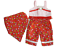 """Doll Clothes 18/"""" Pants Red Floral Capri Top Scarf Floral Fit American Girl Dolls"""
