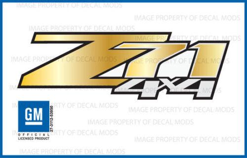 GRGOLD set of 2 Z71 4x4 Chevy Silverado 2007-2013 Decals Stickers Gold Fade