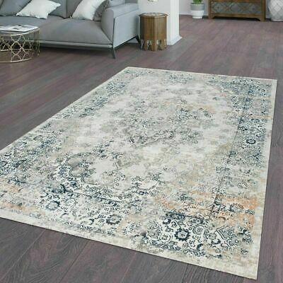 Traditional Oriental Rug Classic Shabby Rugs Living Room Patio Kitchen Blue Mats Ebay