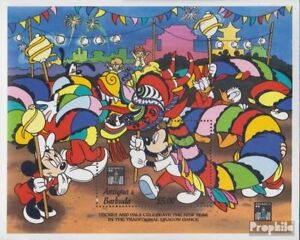Antigua And Barbuda Block282 Mnh 1994 Walt-disney-figures In Hong Kong Latest Technology Stamps
