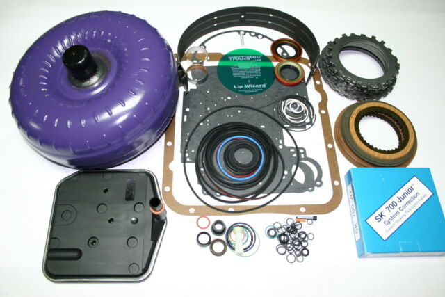 700R4 85-86 Transmission Rebuild Kit Torque Converter Transgo SK-700jr Shift Kit