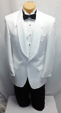 BOYS SIZE 3 White 1 Button Shawl Tuxedo Dinner Jacket Ring Bearer Wedding Tux 3B