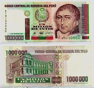 Peru 1000000 intis p148 1990 million high denomination latino image is loading peru 1000000 intis p148 1990 million high denomination altavistaventures Images