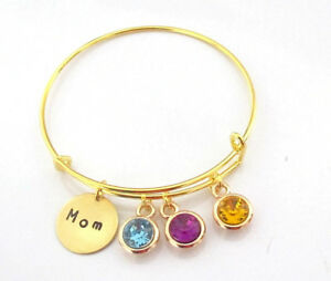 Details About Mom Bracelet Birthstone Mother S Day Gift For In Law